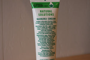 Natural Solutions Mānuka Oil Healing Cream Label