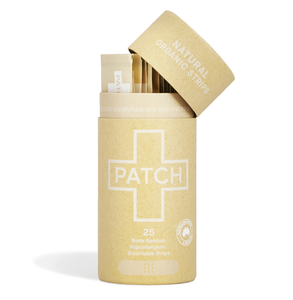Patch Organic Bamboo Adhesive Wound Care Strips (Plaster) in Natural in Biodegradable Pack