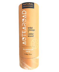 Aotearoad Natural Eco-Friendly Stick Deodorant - Wild Orange & Cedarwood