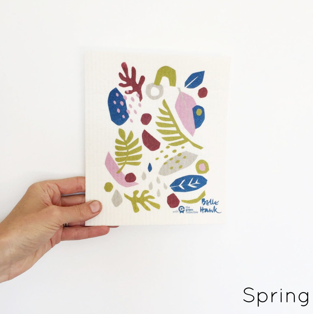 SPRUCE. A super star eco friendly dishcloth doing good things for the planet. In Spring Design.