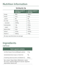 Lifestream Natural Vitamin C Nutritional Information