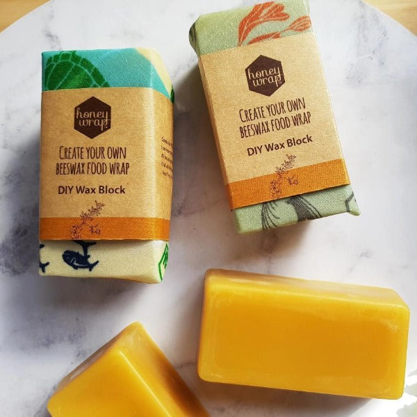 Create Your Own Reusable Food Wrap Wax Blocks & Kits by Honeywrap
