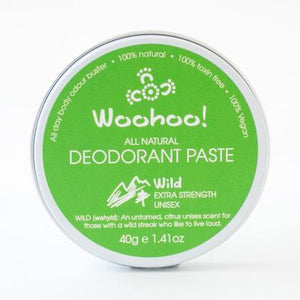 Woohoo! Natural Deodorant - Wild Extra Strength 40g