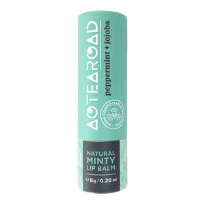 Aotearoad All-Natural & Plastic Waste-Free Lip Balms - Peppermint & Jojoba