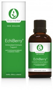 Kiwiherb EchiBerry® is perfect for any situation where immunity may be compromised by increased oxidative stress.  50ml.