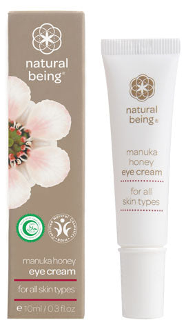 Natural Being Manuka Honey Eye Cream with packaging