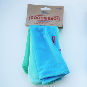 Goodie Bag Set of 3 - green, mint, mid blue.