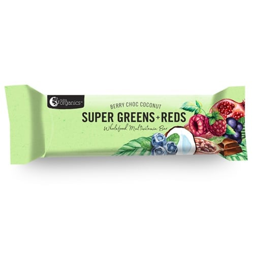 Nutra Organics Super Green and Reds Wholefood Multivitamin Bars - Single Bar