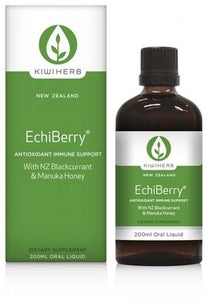 Kiwiherb EchiBerry® is perfect for any situation where immunity may be compromised by increased oxidative stress.  200ml.