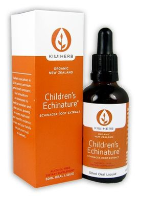 Kiwiherb Children's Echinature® is the essential immune product specially formulated for children 0 - 12 years, made from premium certified organic Echinacea root. 50ml