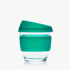 Joco reusable coffee cup, 8 oz in Deep Teal Seaglass