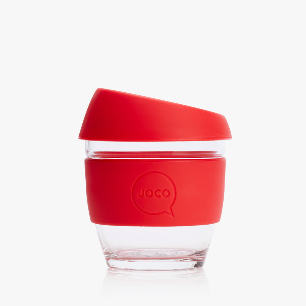 Joco reusable coffee cup, 8 oz in Red