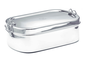Meals in Steel Stainless Steel Lunchbox: Large oval: 22.5 x 13.5 x 7 cm