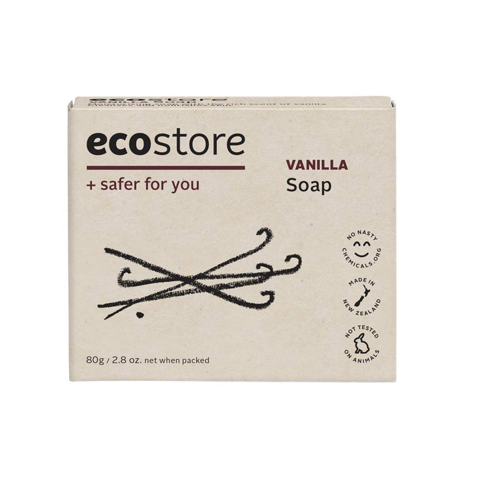 A gentle plant and mineral based soap with a delicious vanilla fragrance.