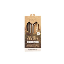 Caliwoods Mixed Stainless Steel Straw Pack
