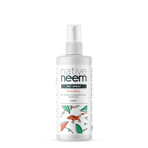 Native Neem Organic Pet Spray is a natural tonic for your pet's skin and fur, providing a lustrous problem-free coat.