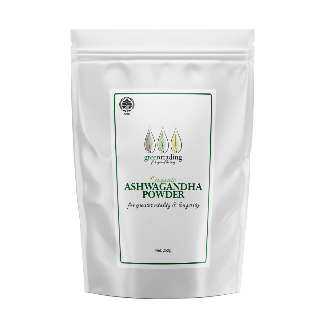 Green Trading Organic Ashwaganda Powder is one of the most powerful herbs in Ayurveda.