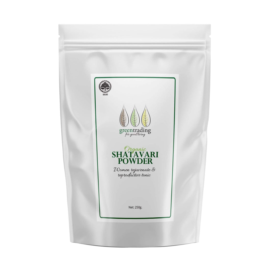 Green Trading Organic Shatavari Powder is the most popular Ayurvedic herb used for women's reproductive health.