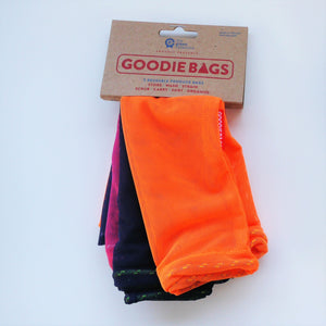 Goodie Bag Set of 3 - pink, indigo, orange