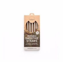 Caliwoods Stainless Steel Smoothie Straw Pack
