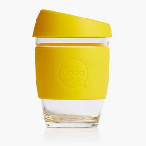 Joco reusable coffee cup, 12oz in Lemon