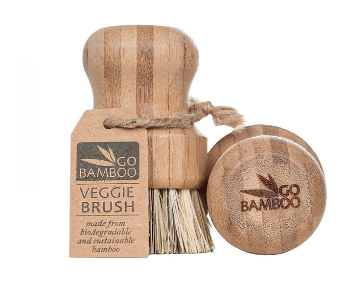 Go Bamboo Vegetable Scrubbing Brush - Long Lasting Quality