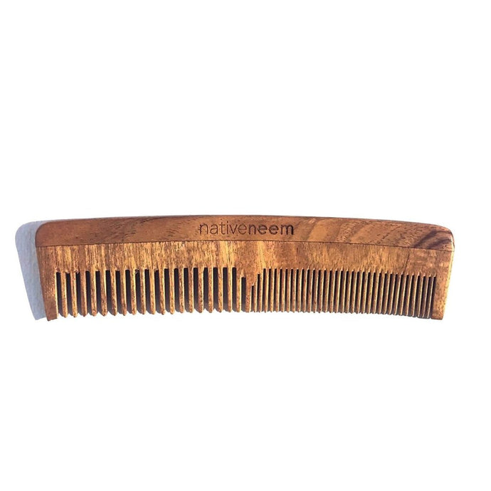 Native Neem Wooden Comb - Mixed Tooth