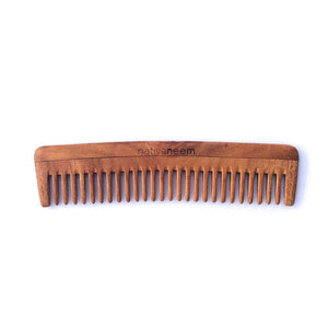 Native Neem Wooden Comb - Wide Tooth