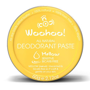 Woohoo! in Mellow 60g Tub. Body All Natural Deodorant Paste