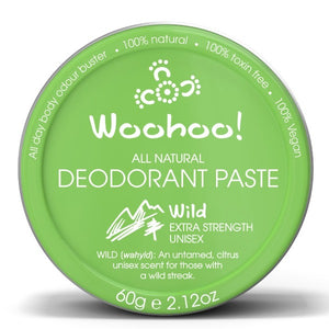 Woohoo! in Wild 60g Tub. Body All Natural Deodorant Paste