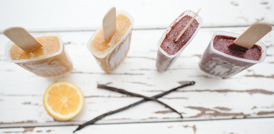 Lemon & Vanilla Ice Blocks