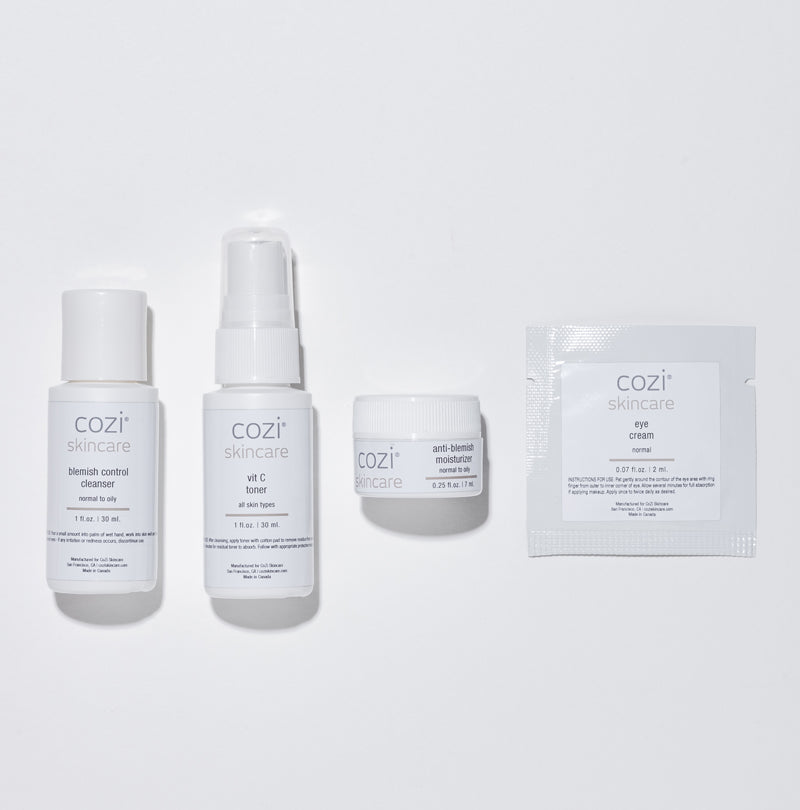 CoZi Skincare Anti-Blemish Travel Kit