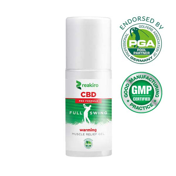 REAKIRO | CBD Golf Pro Formula Warming Muscle Relief Gel | 500 mg CBD | 100 ml