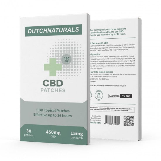 DUTCH NATURAL HEALING | CBD PATCH | 15Mg | 30 Stuks