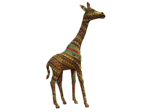 Handmade Fabric / Textile Colorful Giraffe Figurine