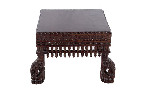 TEAK WOOD ELEGANT PEACOCK LEGS COFFEE TABLE- DARKWOOD FINISH