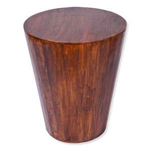 Reclaimed round cone shaped 18 inch Side table | Accent Table | End Table