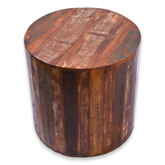 Rustic Reclaimed 18 inch round Side table | Accent Table | End Table