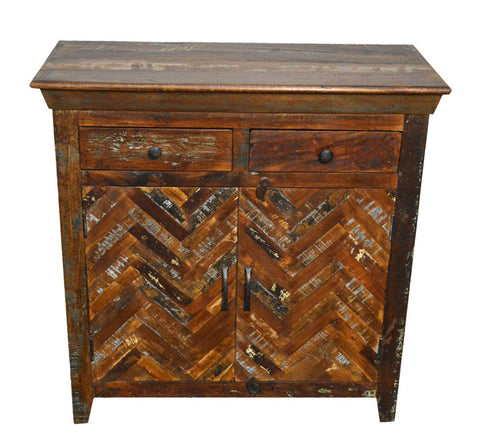 Reclaimed Rustic Sideboard Free Standing Cabinet with Drawers