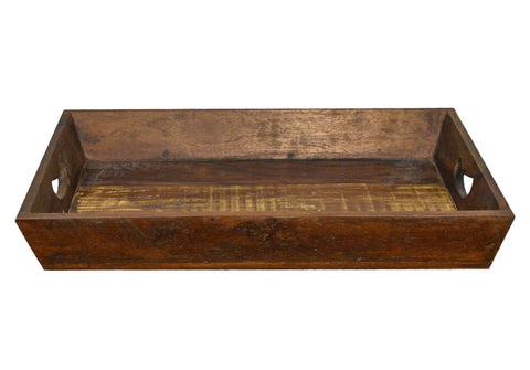 Rustic Natural Reclaimed Wood Farmhouse Tray