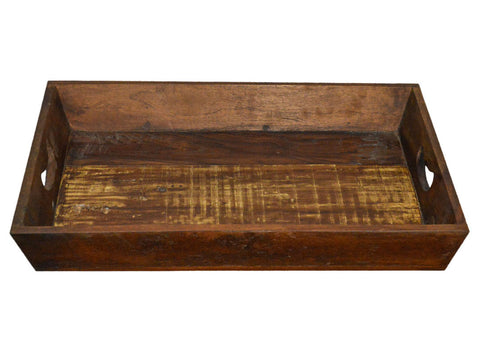 Recycled Wood Rustic Natural Decorative Farmhouse Tray