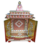 Traditional Hindu Worship Temple for rituals Pooja Mandir Mandap with doors