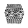 Bone Inlay Square Geometrical Side Table