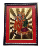 Golden Wall Photo Frame Hindu God Radha Krishna Spiritual