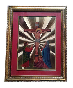 24 Carat Gold Plated Jesus Christ INRI Wall Picture Frame