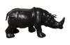 Handmade Paper Mache Big Rhino Leather Figurine