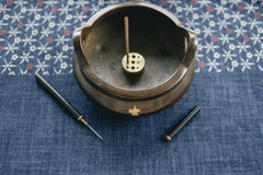 Gold and Bronze Incense Censer and Holder