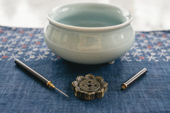 Celadon Incense Censer and Holder