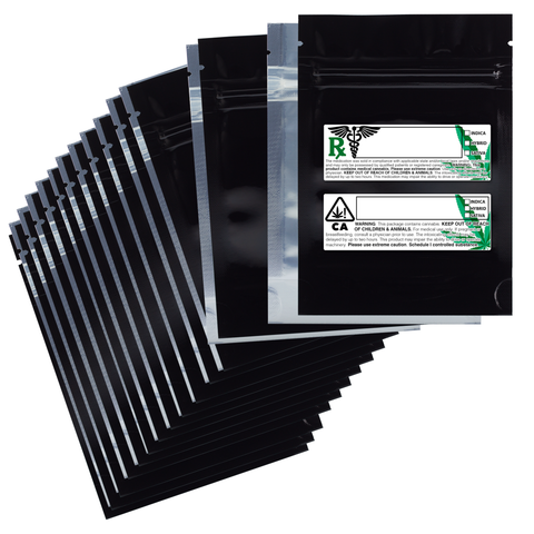 Mylar bags with labels - Dispensary bulk wholesale mylar bags with labels by Dragon Chewer