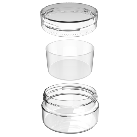 5ML bulk wholesale dispensary concentrate container with silicone insert by dragon chewer. Clear silicone.